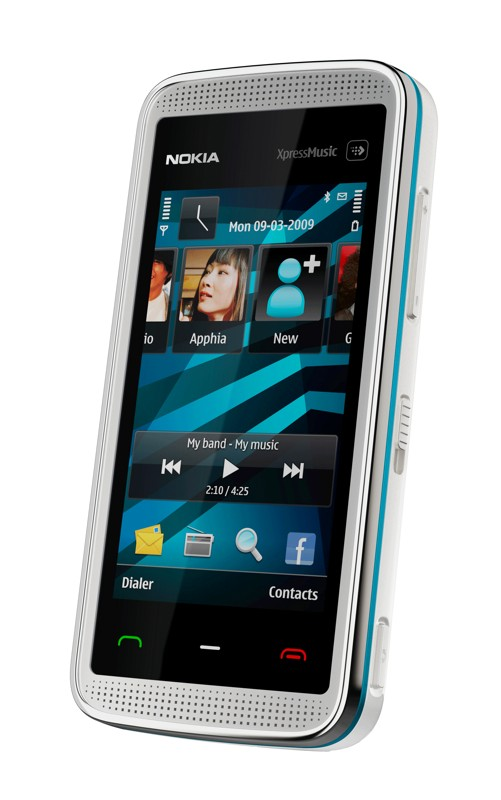 Nokia 5530 XpressMusic picture with white bluestrip chasing